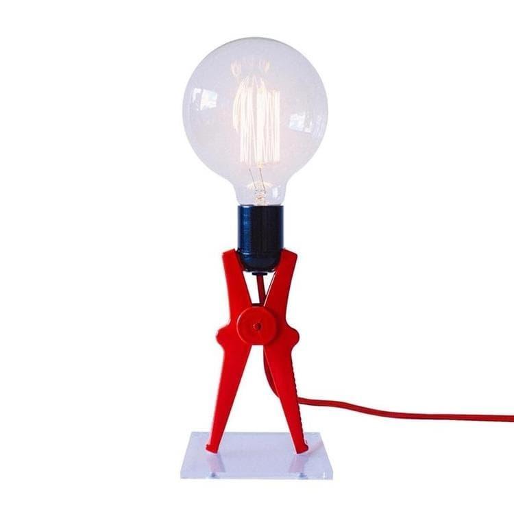 Monsieur Kacha Lampe à poser Monsieur Kacha CROCO-Lampe à poser Pince H36cm Rouge