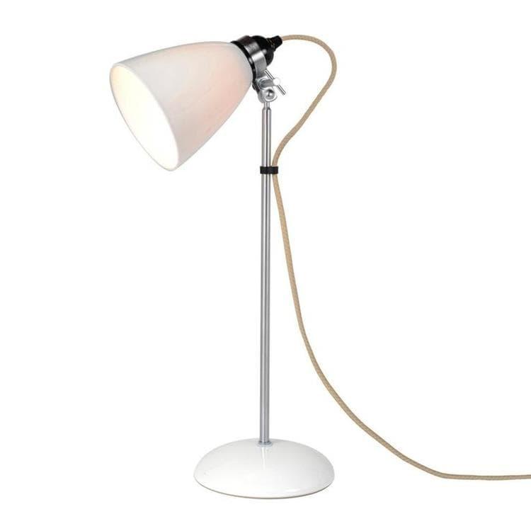 BTC Lampes à poser Original BTC HECTOR DOME-Lampe à poser Porcelaine/Chrome H57cm Blanc