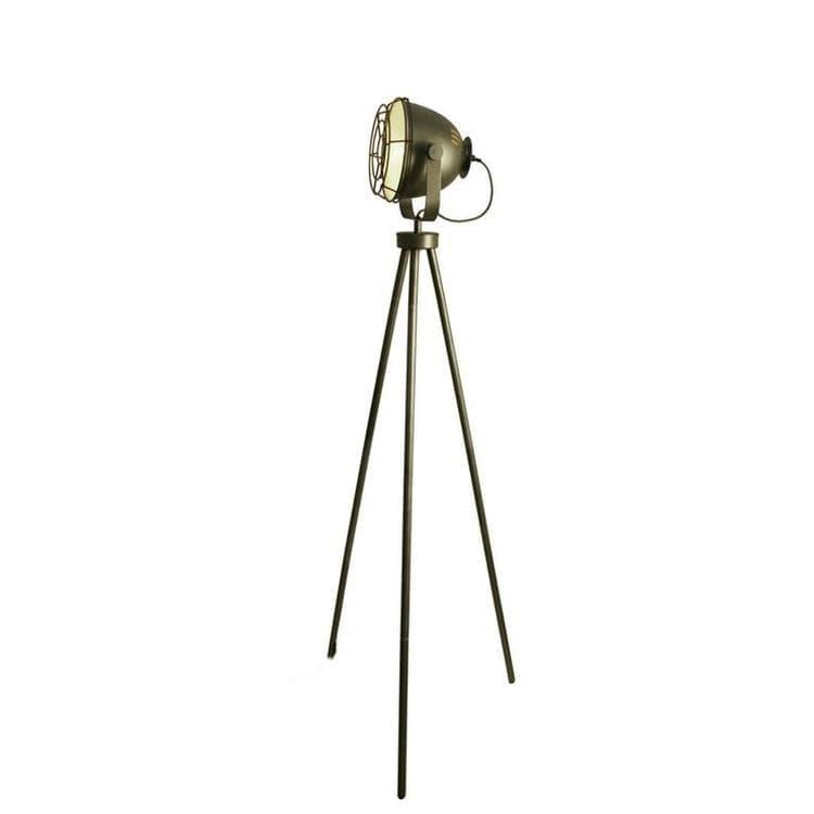 sampa helios lampadaires sampa helios steel-lampadaire trépied métal h149cm argenté