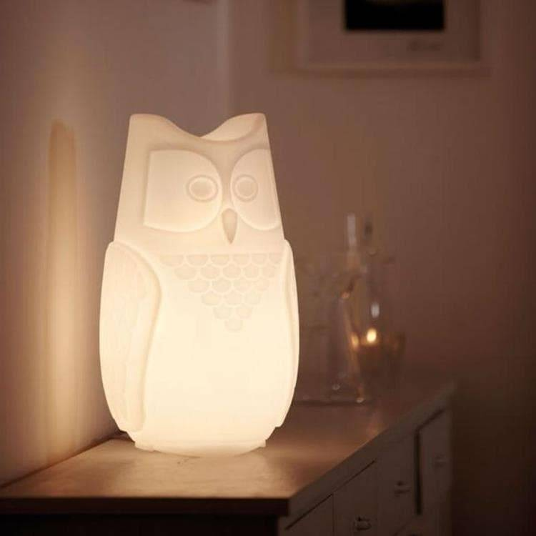 Slide Veilleuse lumineuse Slide BUBO-Lampe Hibou H26cm Blanc