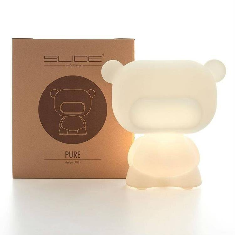 Slide Veilleuse lumineuse Slide PURE-Lampe Ourson H45cm Blanc