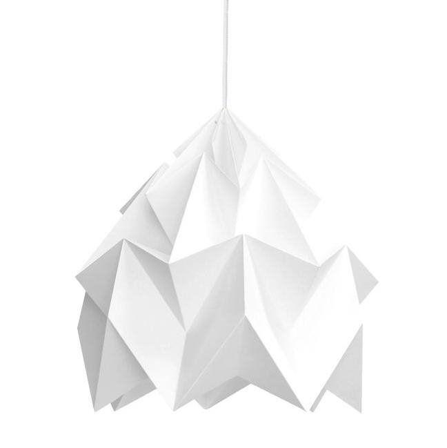 Studio Snowpuppe Suspension Studio Snowpuppe MOTH-Suspension XL Papier Ø40cm Blanc