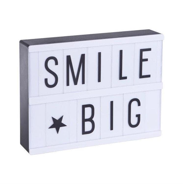 A Little Lovely Company Lightbox A Little Lovely Company LIGHTBOX A5-LIGHTBOX A5 - Boite lumineuse LED Blanc + 85 lettres et symboles H15cm Noir