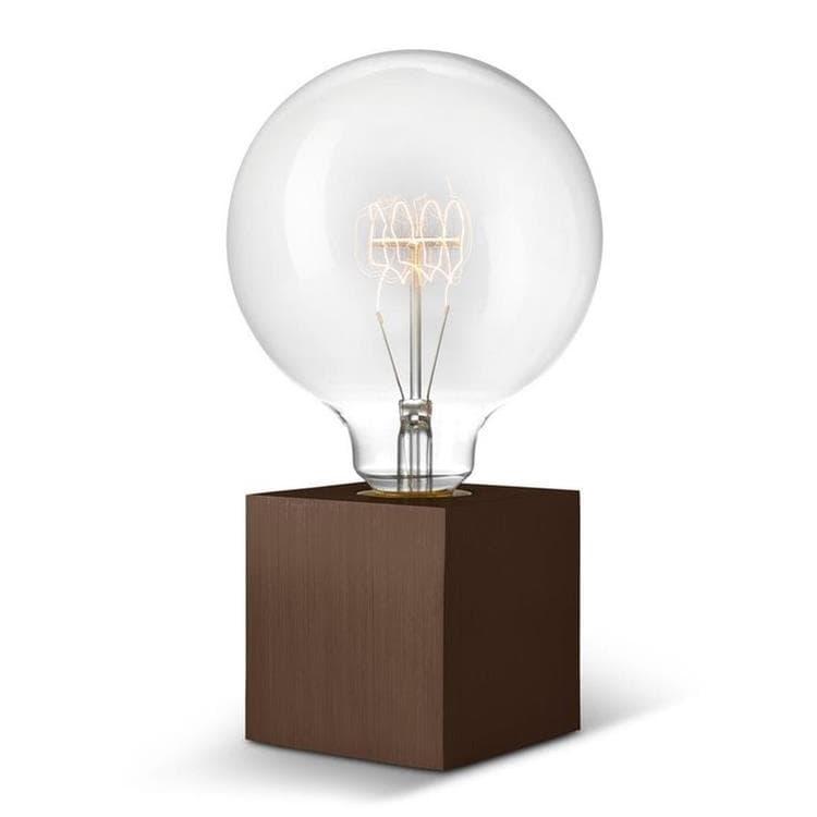 Sompex Lampe à poser Sompex CUBIC-Lampe à poser avec Ampoule globe H22cm Marron