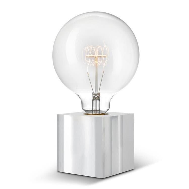 Sompex Lampe à poser Sompex CUBIC-Lampe à poser avec Ampoule globe H22cm Transparent
