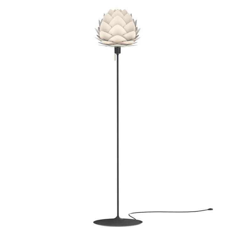 Umage (Vita Copenhagen) Lampadaire Umage (Vita Copenhagen) ALUVIA MINI-Lampadaire Aluminium Pied droit Noir H170cm Blanc