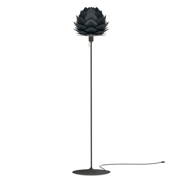 Umage (Vita Copenhagen) Lampadaire Umage (Vita Copenhagen) ALUVIA MINI-Lampadaire Aluminium Pied droit Noir H170cm Gris