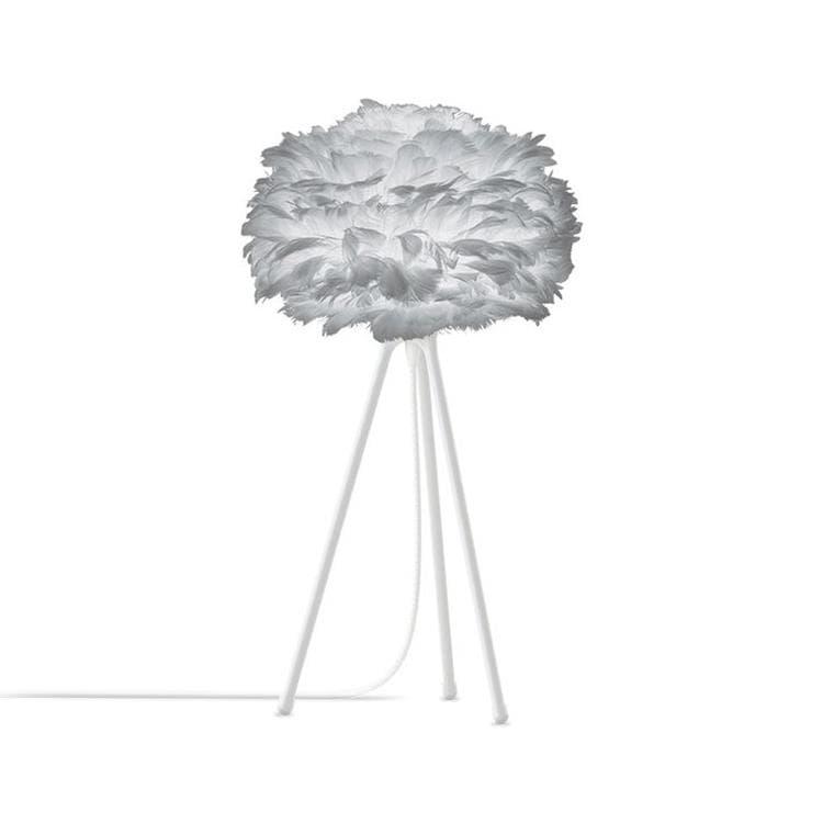 Umage (Vita Copenhagen) Lampe à poser Umage (Vita Copenhagen) EOS MINI-Lampe à poser Plume Trépied Blanc Ø35cm Gris