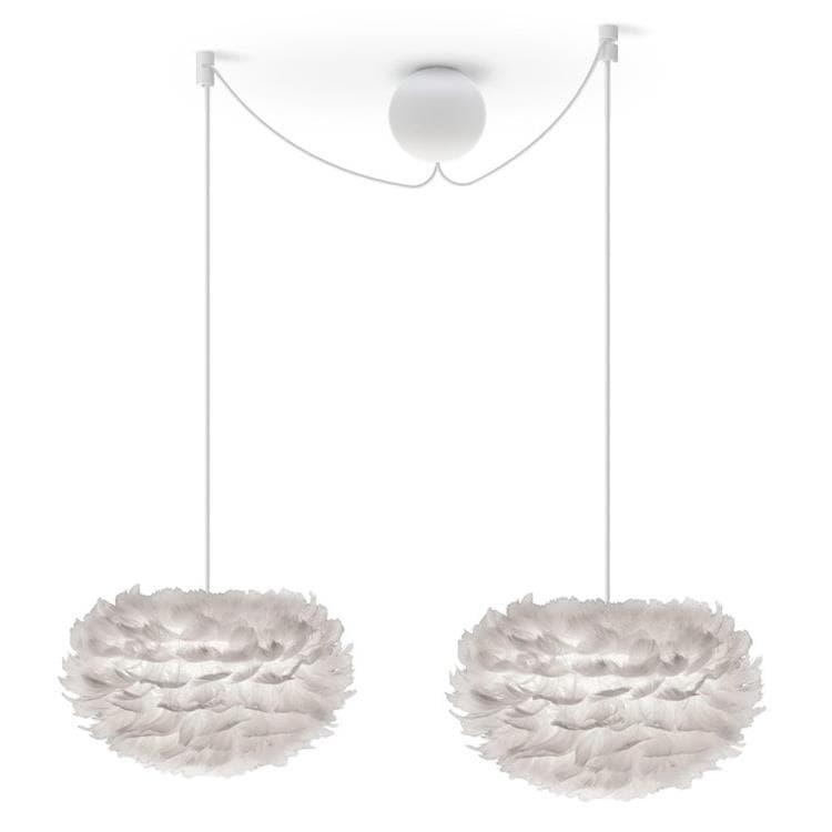 Umage (Vita Copenhagen) Suspension Umage (Vita Copenhagen) EOS MINI-Suspension 2 Lumières Plume Ø35cm + Câbles blancs Blanc