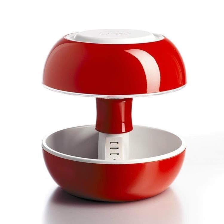 Vivida Lampe à poser Vivida JOYO-Lampe avec port USB Multifonction Laquée H27cm Rouge