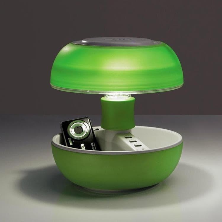 Vivida Lampe à poser Vivida JOYO-Lampe avec port USB Multifonction Translucide H27cm Vert