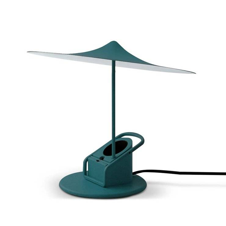 Wästberg Lampe à poser Wästberg Île-Lampe à poser ou à pincer LED Métal Ø19cm Bleu