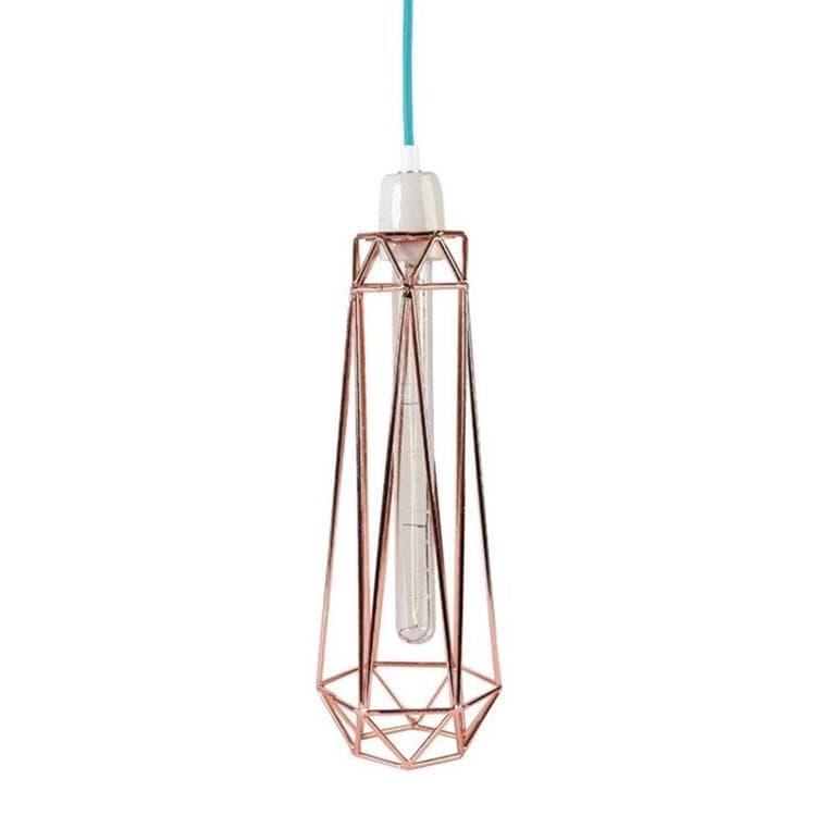 Filamentstyle Lampe à poser Filamentstyle DIAMOND 2-Lampe baladeuse Métal Filaire Ø12cm Cuivre
