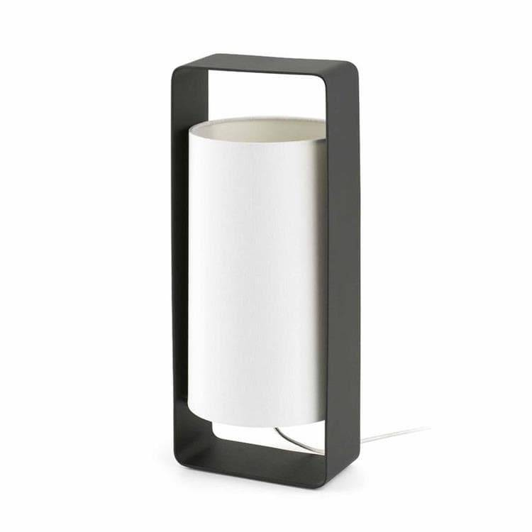 Faro Lampe à poser Faro LULA-Lampe à poser Métal & Textile Blanc H40cm Noir