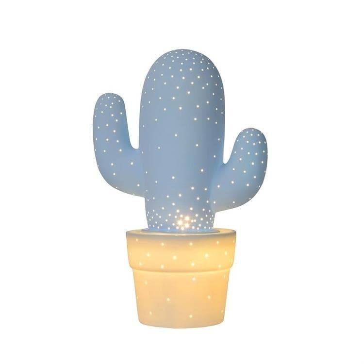 Lucide Veilleuse lumineuse Lucide CACTUS-Lampe à poser Céramique H30.5cm Bleu
