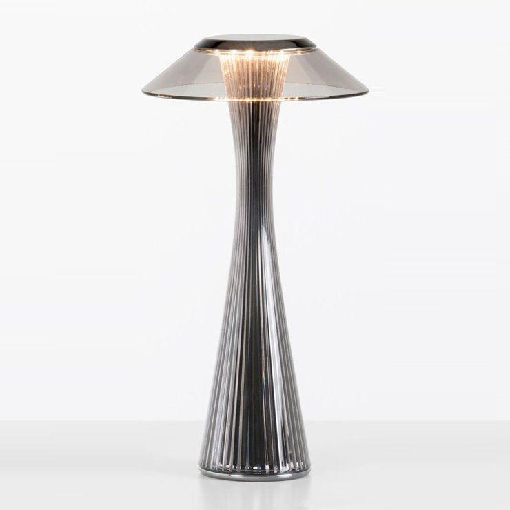 Kartell Lampe à poser Kartell SPACE-Lampe à poser sans fil LED H30cm Argenté