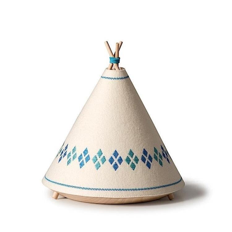 BUOKIDS Veilleuse lumineuse BUOKIDS TIPI-Lampe à poser / Veilleuse en forme de Tipi H21cm Bleu