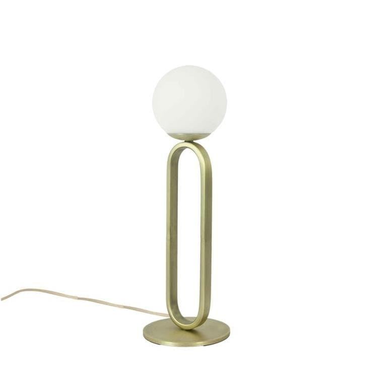 ENO Studio Lampe à poser ENO Studio CIME-Lampe à poser Verre/Métal Ø12cm Laiton