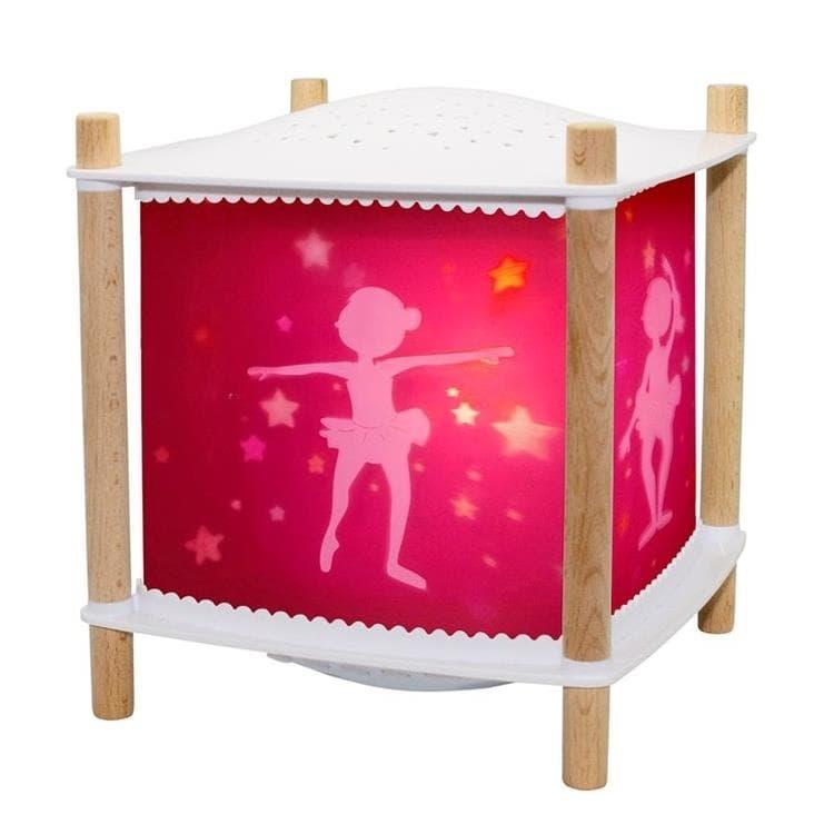 Trousselier Veilleuse lumineuse Trousselier LANTERNE 2.0 BALLERINE-Veilleuse Lanterne LED Connectée avec projection d'étoiles H21cm Rose