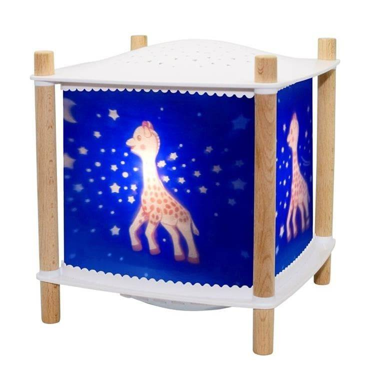 Trousselier Veilleuse lumineuse Trousselier LANTERNE 2.0 SOPHIE LA GIRAFE-Veilleuse Lanterne LED Connectée avec projection d'étoiles H21cm Bleu