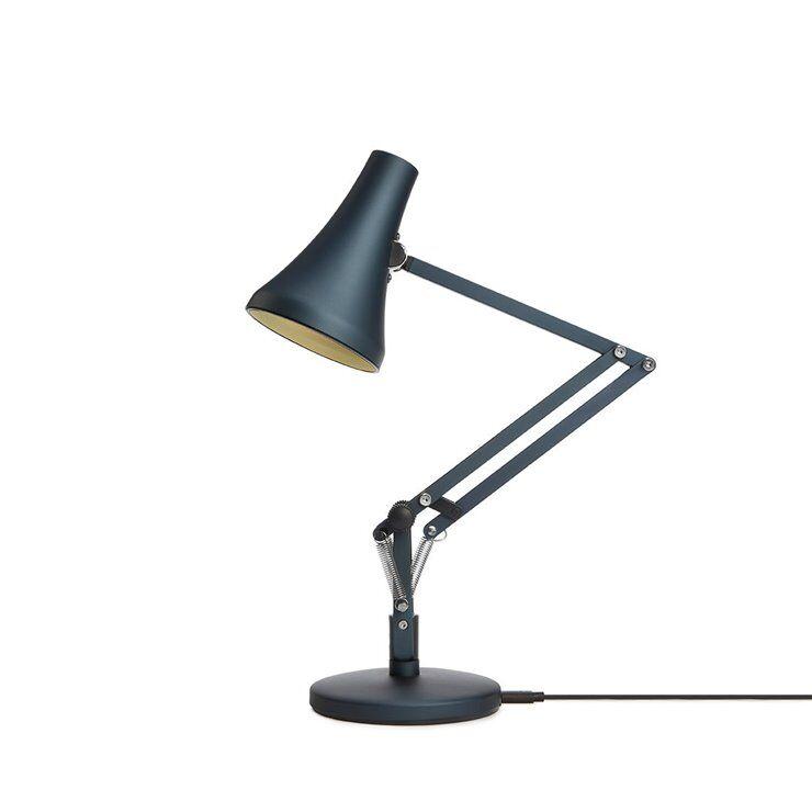 Anglepoise Lampe à poser Anglepoise 90 Mini Mini-Lampe de bureau LED articulée sans fil H40cm Bleu