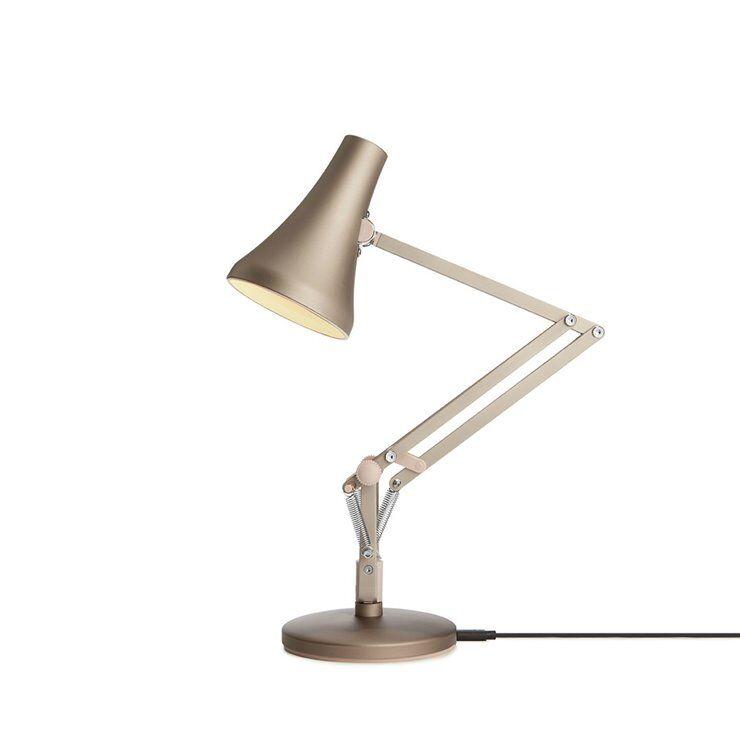 Anglepoise Lampe à poser Anglepoise 90 Mini Mini-Lampe de bureau LED articulée sans fil H40cm Argenté