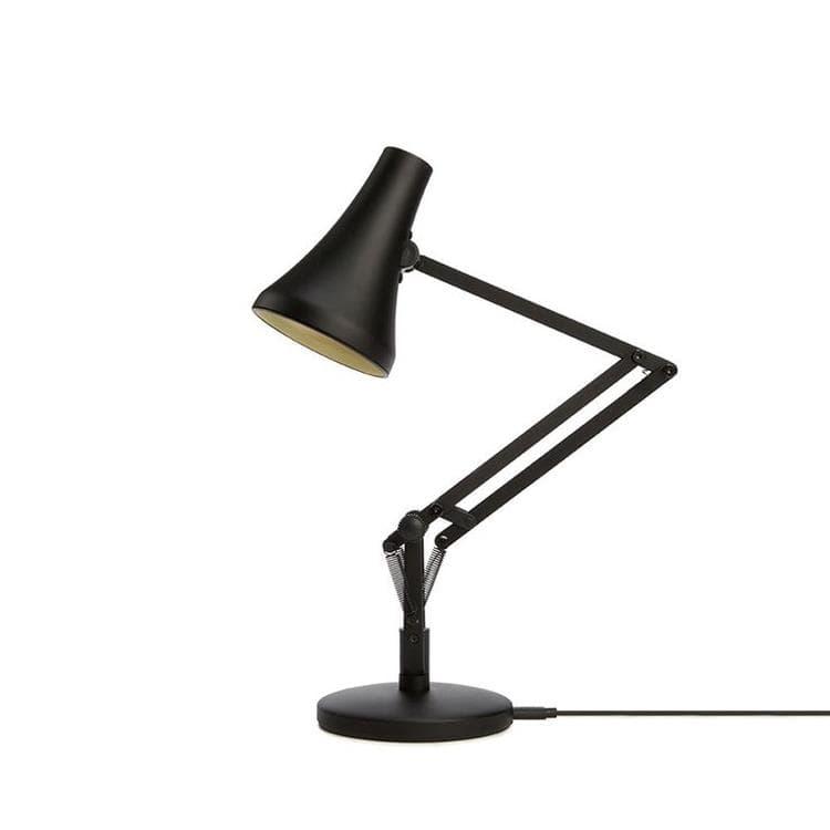Anglepoise Lampes à poser Anglepoise 90 Mini Mini-Lampe de bureau LED articulée sans fil H40cm Noir