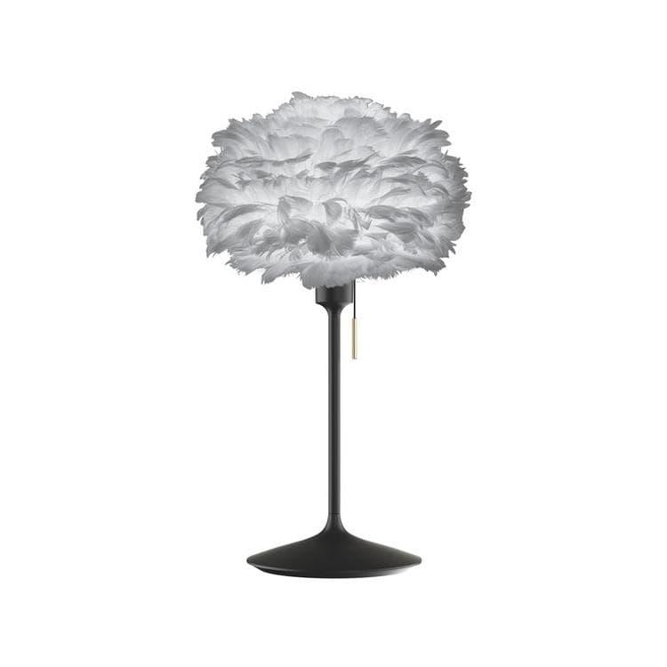 Umage (Vita Copenhagen) Lampe à poser Umage (Vita Copenhagen) CHAMPAGNE EOS MINI-Lampe à poser avec prise USB Métal/Plume Ø35cm Noir