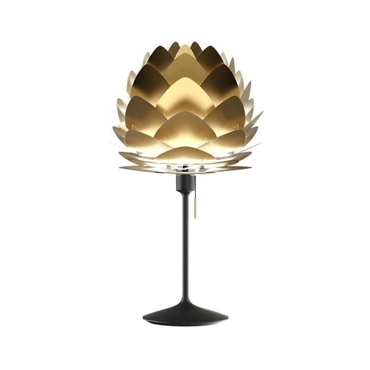 Umage (Vita Copenhagen) Lampe à poser Umage (Vita Copenhagen) ALUVIA MINI CHAMPAGNE-Lampe à poser avec prise USB Métal Ø40cm Noir