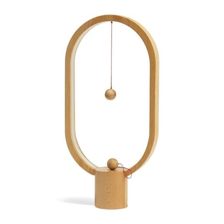 SBAM Design Lampes à poser SBAM Design Heng Balance Ellipse-Lampe à poser LED sans fil avec allumage magnétique en Bois H40cm Bois