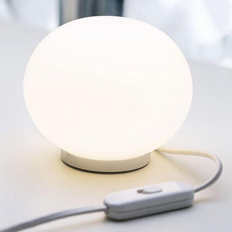 Flos Lampe à poser Flos MINI GLO-BALL-Lampe à poser Verre Ø11cm Blanc