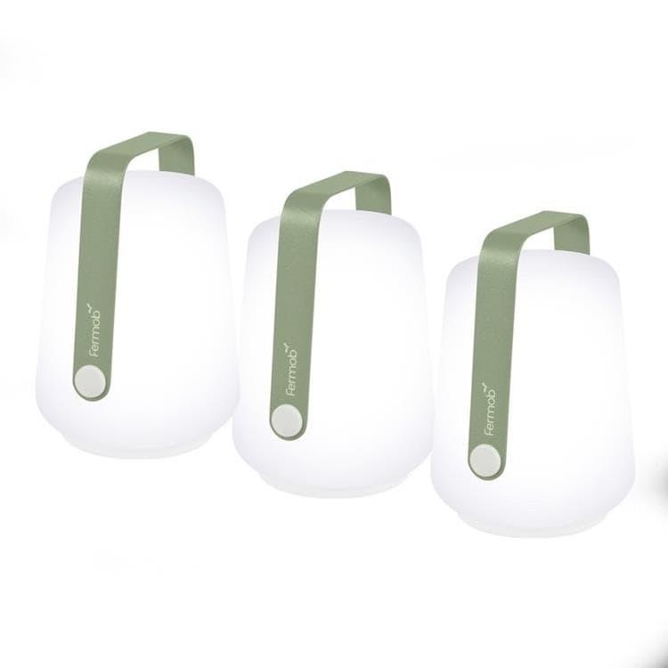Fermob Lampe à poser extérieur Fermob BALAD-Lot de 3 Lampes nomades LED d'extérieur H12cm Vert