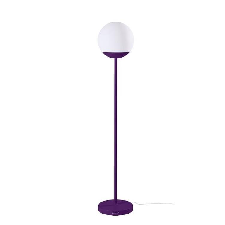Fermob Lampadaire extérieur Fermob MOOON!-Lampadaire d'extérieur LED H134cm sans fil avec bluetooth Violet