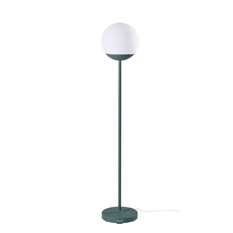 Fermob Lampadaire extérieur Fermob MOOON!-Lampadaire d'extérieur LED H134cm sans fil avec bluetooth Gris