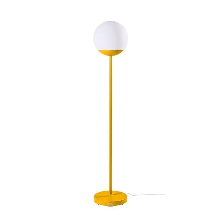 Fermob Lampadaire extérieur Fermob MOOON!-Lampadaire d'extérieur LED H134cm sans fil avec bluetooth Jaune