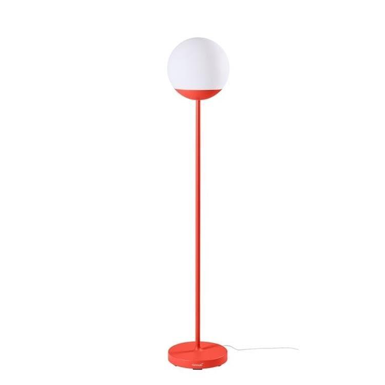 Fermob Lampadaire extérieur Fermob MOOON!-Lampadaire d'extérieur LED H134cm sans fil avec bluetooth Rouge