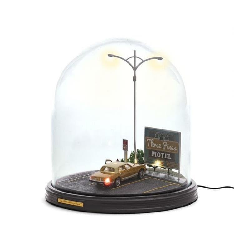 Seletti Lampe à poser Seletti MY LITTLE FRIDAY NIGHT-Lampe à poser Dôme avec voiture H27cm Gris
