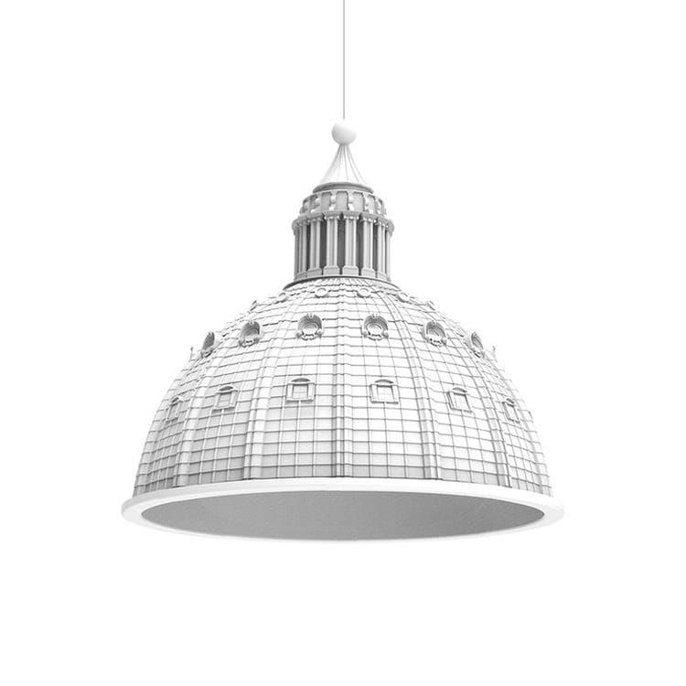 Seletti Suspension Seletti CUPOLONE-Suspension dôme en résine Ø70cm Blanc