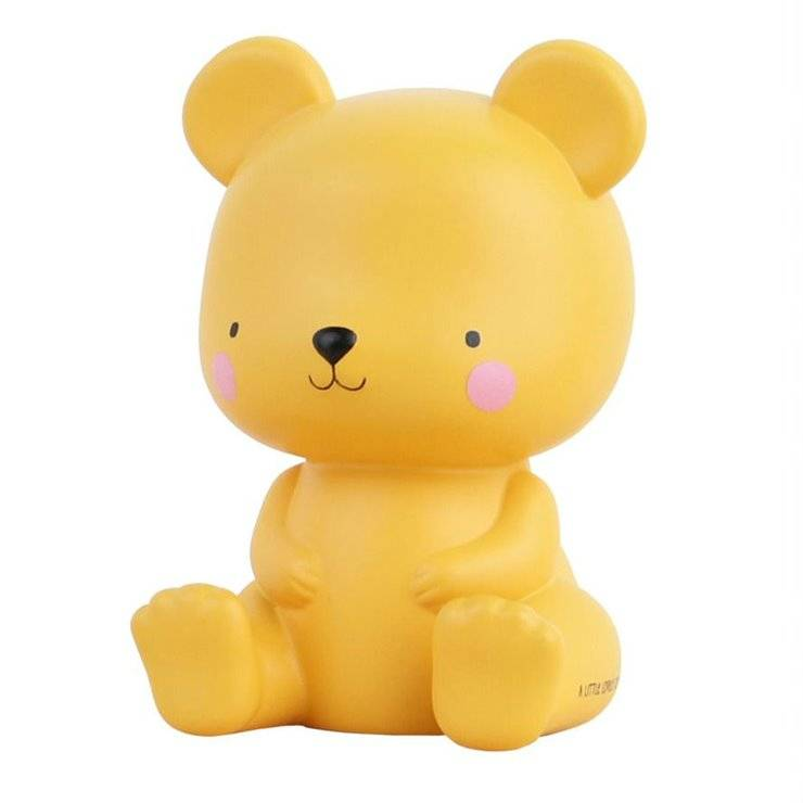 A Little Lovely Company Guirlandes et objets lumineux A Little Lovely Company BEAR-Veilleuse LED Ourson H13cm Marron