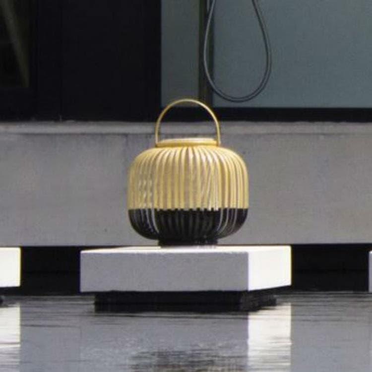 Forestier Lampe à poser extérieur Forestier TAKE A WAY XS-Baladeuse d'extérieur LED sans fil Bambou H29cm Noir