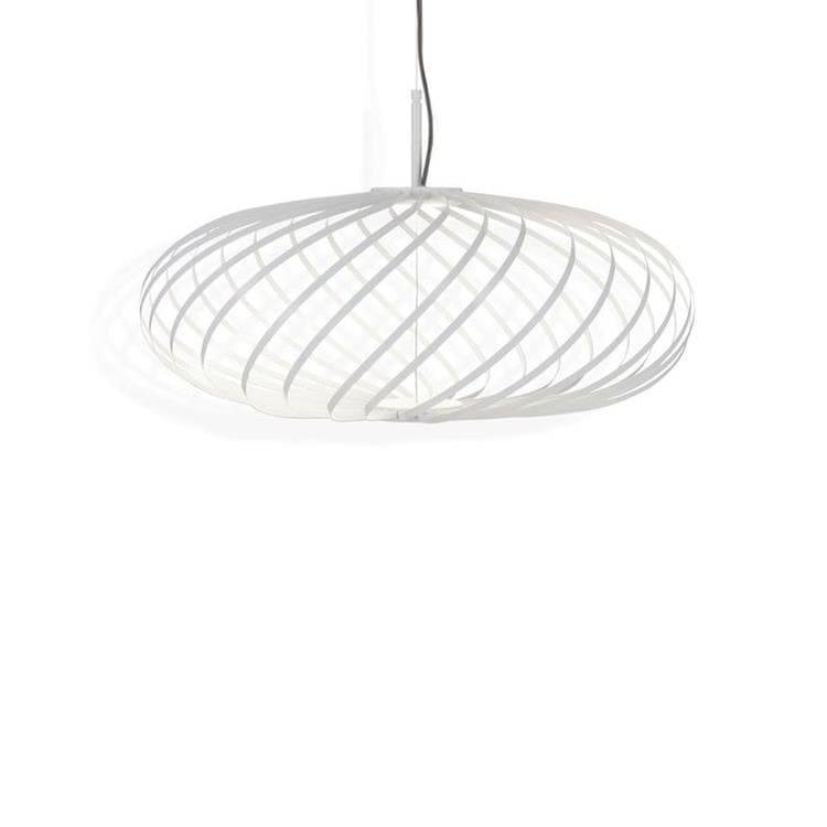 Tom Dixon Suspension Tom Dixon SPRING SMALL-Suspension Métal Ø56-60cm Blanc