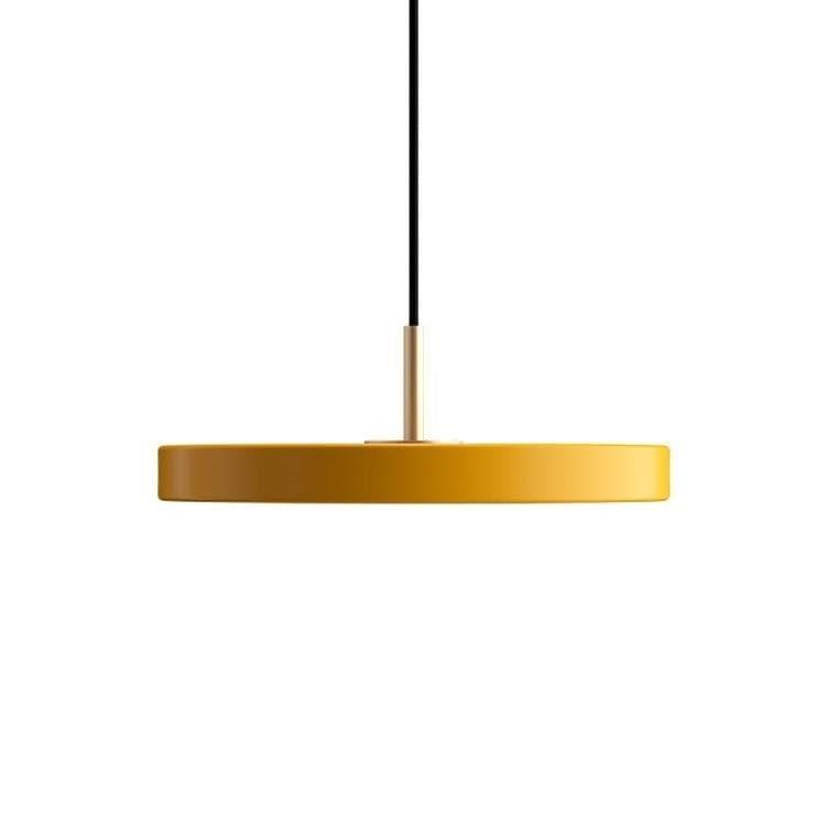 Umage (Vita Copenhagen) Suspension Umage (Vita Copenhagen) ASTERIA MINI-Suspension LED Acier/PMMA Ø31cm Jaune