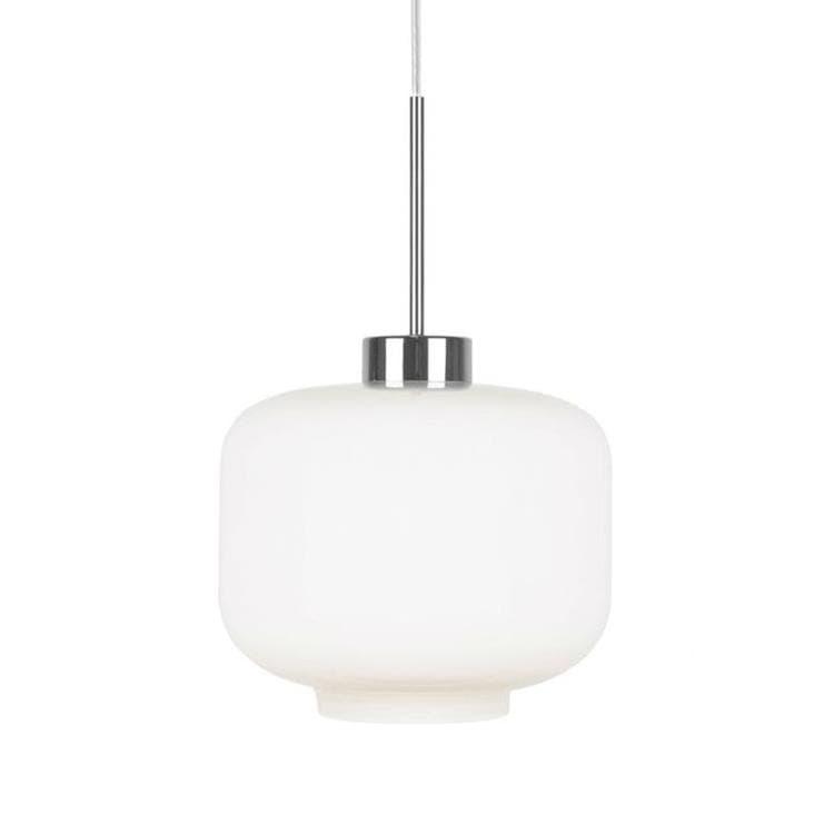 Globen Lighting Suspension Globen Lighting RITZ-Suspension Verre/Métal Ø25cm Blanc