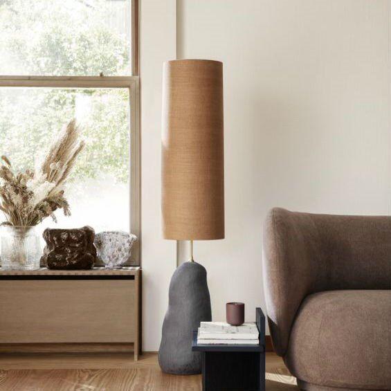 Ferm Living Lampe à poser Ferm Living HEBE-Lampe à poser avec variateur Céramique/Textile H128cm Noir