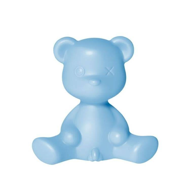 Qeeboo Veilleuse lumineuse Qeeboo TEDDY BOY-Lampe à poser LED Ourson Polyéthylène H32cm Bleu