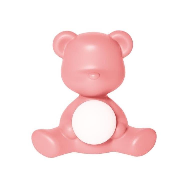 Qeeboo Veilleuse lumineuse Qeeboo TEDDY GIRL-Lampe LED rechargeable Ourson Polyéthylène H32cm Rose