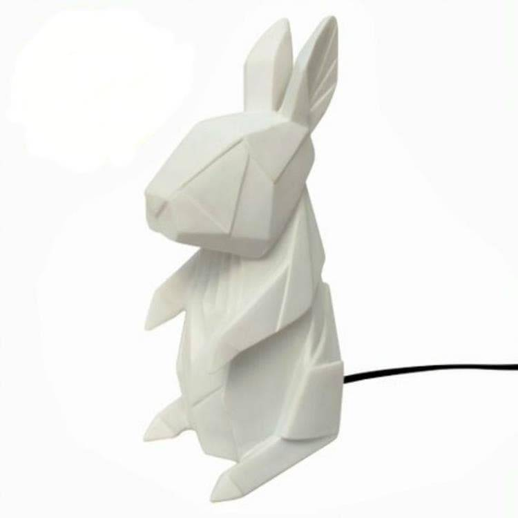 House Of Disaster Veilleuse lumineuse House Of Disaster RABBIT-Lampe à poser LED lapin Résine H25cm Blanc