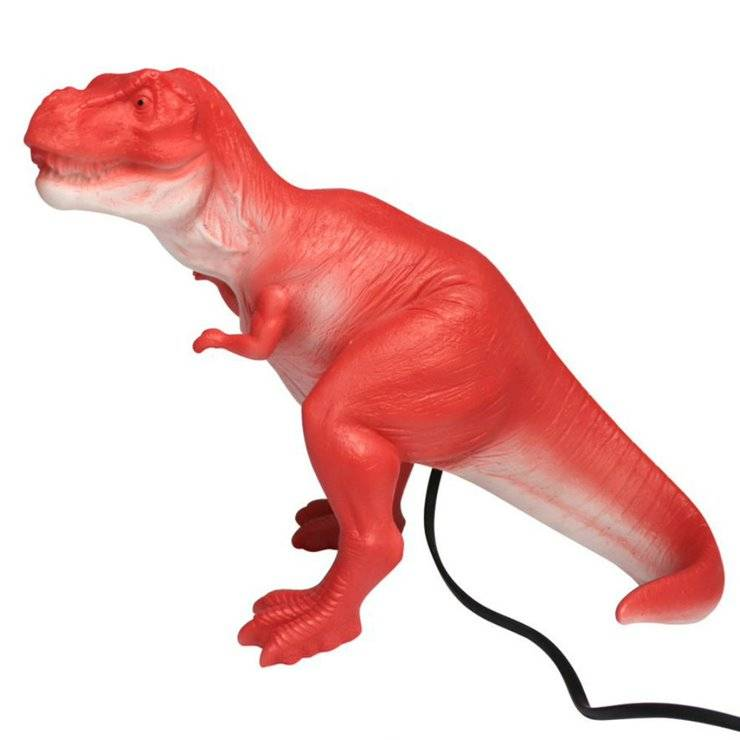 House Of Disaster Veilleuse lumineuse House Of Disaster T-REX-Lampe à poser LED dinosaure Résine H32cm Rouge