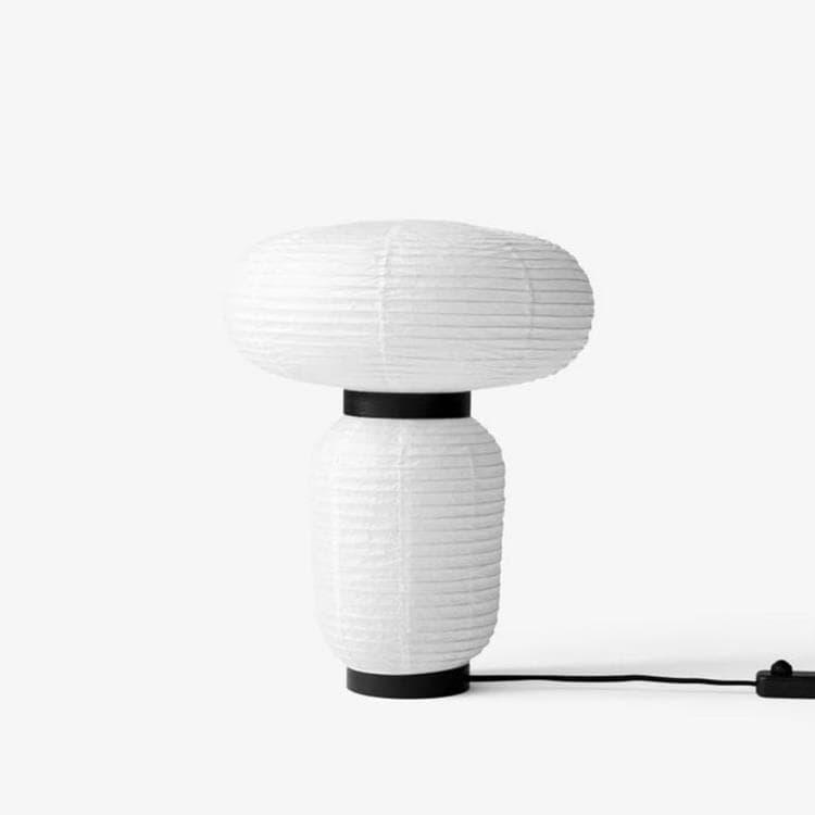 & Tradition Lampe à poser & Tradition FORMAKAMI JH118-Lampe à poser avec variateur Papier/Chêne H50cm Blanc