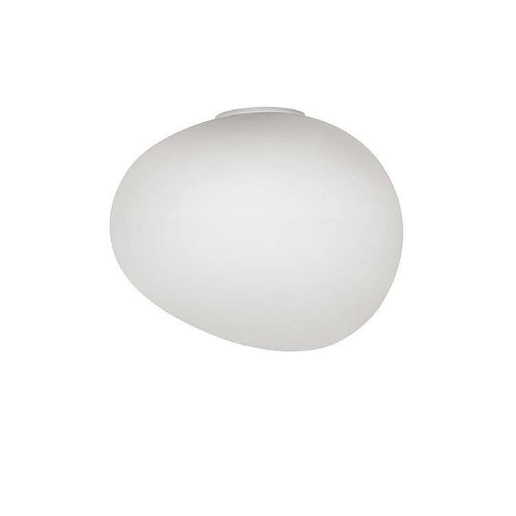 Foscarini Applique murale Foscarini GREGG MIDI-Applique/Plafonier LED pour salle de bain Verre /Métal H21cm Blanc
